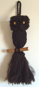 Pot-bellied Macramé Owl